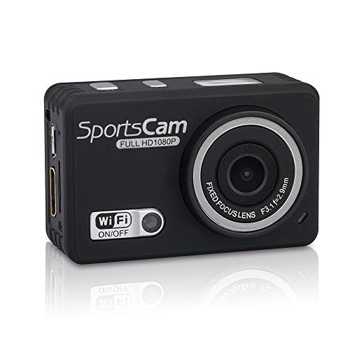 嘉德诺  WIFI高清版 防水摄像运动机 户外运动摄像机 1080P高清拍摄 wifi防水行车记录仪 拍照录像 极限运动拍摄 防水运动摄像机 (国产版配4G内存, 黑色)-图片