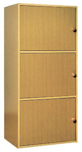 结构设计柜子置物柜书柜书架书橱文件柜多功能柜衣柜)木纹色(厂商直送