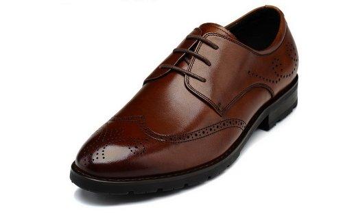 FGN 富贵鸟 新款秋季FGN富贵鸟低帮流行男鞋 镂花巴洛克英伦复古男鞋 T401581 棕色