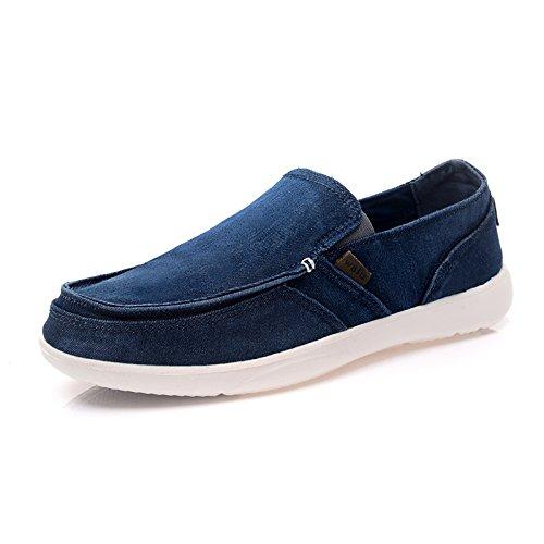 沃尔卢男鞋2014夏季新款帆布鞋男韩版潮布鞋男士休闲一脚登懒人鞋1266