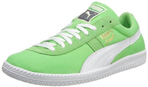 PUMA 男士 Brasil Fil 帆布时尚运动鞋 Summer Green/White 11.5 D(M) US