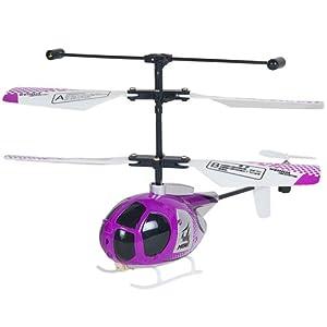 伟华 迷你遥控三通道直升飞机 20904 紫色 带备用尾螺旋桨