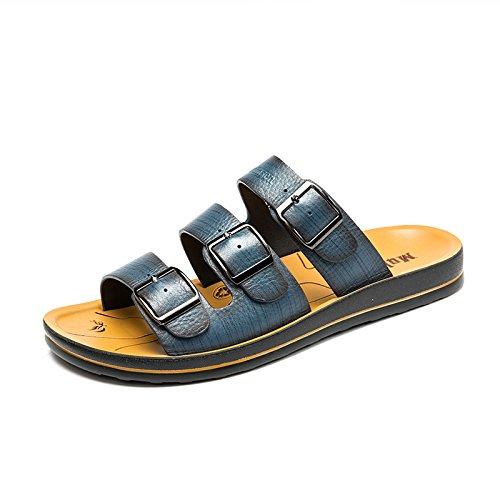 MULINSEN 木林森 潮男拖鞋凉拖鞋男士拖鞋夏季韩版个性一字拖休闲沙滩鞋男