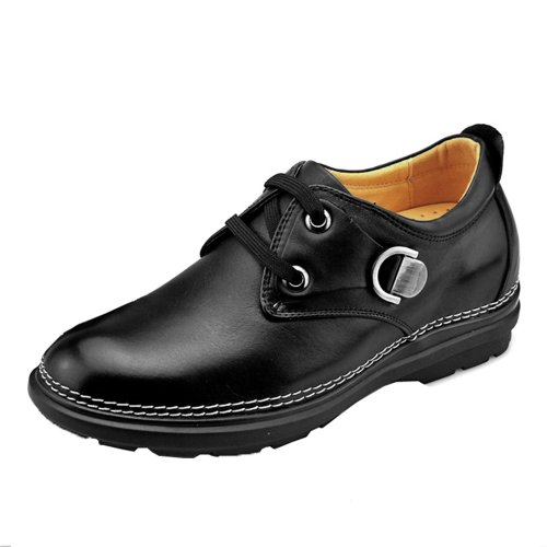 Gog 高哥 男士增高鞋 内增高男鞋 男日常休闲男鞋 头层牛皮增高6.5厘米