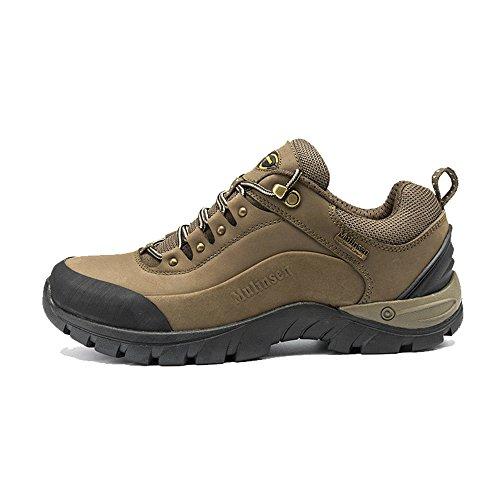 木林森 户外登山鞋真牛皮防滑徒步鞋防水耐磨运动鞋秋冬保暖户外鞋
