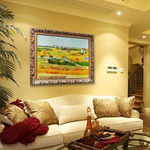 煌巢尚品 名画油画 客厅装饰画 欧式家居壁画 手绘梵高风景有框画