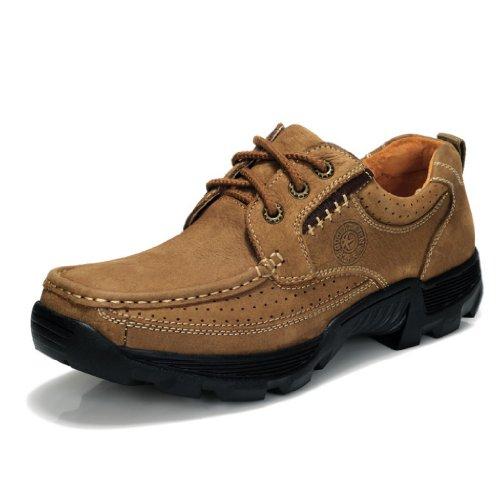 古奇天伦男鞋正品真皮大头皮鞋复古潮流商务休闲工装鞋牛筋透气板鞋秋冬新款