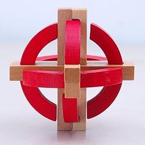 木头玩国 成人玩具彩色地球仪益智木制玩具 成人益智玩具