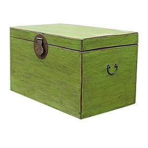 百林坛 黄花梨色收藏衣箱老箱子实木 仿古做旧樟木箱家具 箱式茶几