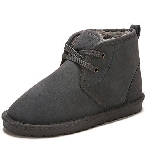 Unbeaten 潮流时尚个性 时装鞋 休闲鞋 真皮 舒适柔软 户外鞋 雪地靴 加毛保暖抗寒 棉鞋 情侣鞋(尺码偏小,请多加大一码)