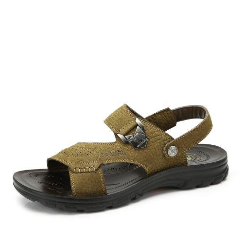 Camel 骆驼 男鞋凉鞋夏季新款沙滩鞋 时尚休闲舒适凉拖鞋两用透气男鞋A422211010