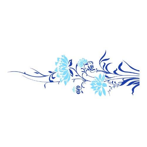 商品莫多拉 时尚背景贴 欢颜(藏青蓝 浅蓝花 小号110cm*40cm)