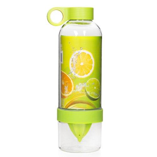 香港QH泉浩 citrus zinger柠檬杯 便携水果榨汁杯 柠檬杯 水果杯 便携手动榨汁机 活力瓶柠檬杯果汁杯榨汁水杯新款柠檬杯活力瓶 (绿色)-图片