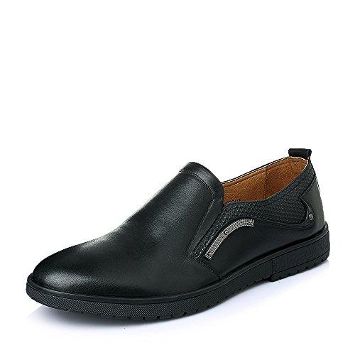 Senda 森达 森达春季专柜同款打蜡牛皮休闲男单鞋 1EH02AM5