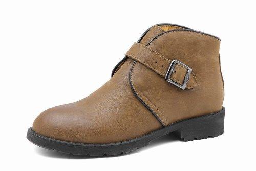 Unbeaten 时尚个性 商务休闲鞋 男士真皮 韩版 工装靴 舒适高端 时装靴 皮鞋 男鞋
