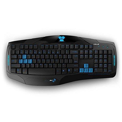 e-3lue 宜博眼镜蛇特别版 加重usb有线cf游戏键盘 机械手感
