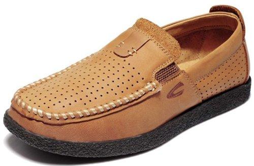 Camel Active 骆驼动感 时尚商务休闲皮鞋 驾车鞋 个性真皮冲孔透气男鞋 11B1305