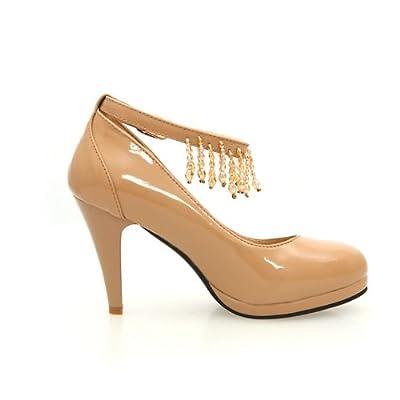 巴里特莎 大码小公主时尚pu单鞋低帮鞋一字式扣带单鞋