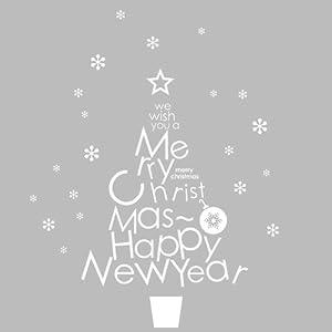 文字圣诞树装饰贴画