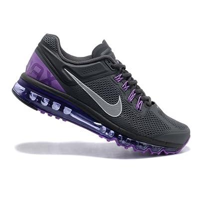 nike耐克2013新款男女款airmax+全掌气垫跑步鞋运动鞋炭灰高清图片