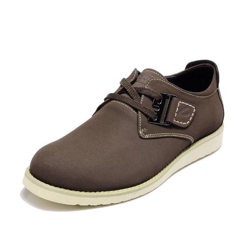 Camel Active 骆驼动感 德国骆驼潮流英伦板鞋牛皮休闲鞋真皮轻便男鞋C63607199 红棕色 41