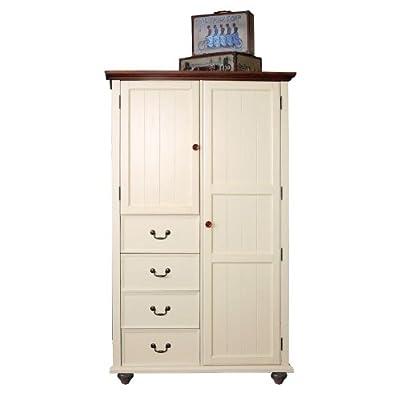 汇众家居 美式乡村风格 做旧家具 202米白色衣柜 1220