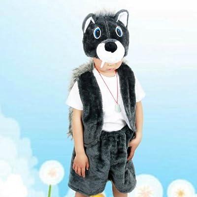 六一儿童节动物服装 动物表演服饰 质量超好大灰狼装扮 大灰狼衣服