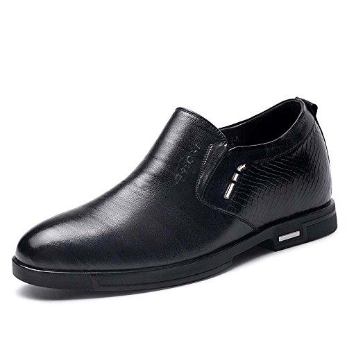 2015秋季新款男士内增高商务套脚皮鞋8.0厘米515835