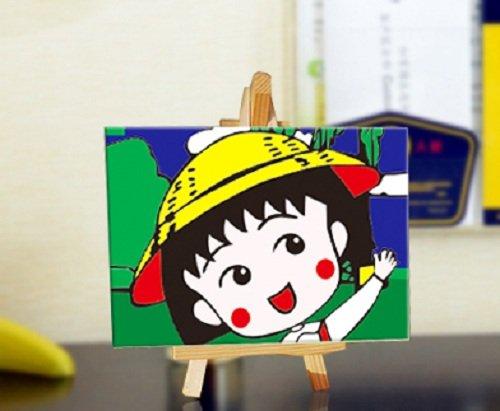 自油自画 数字油画diy手绘人物儿童动漫卡通油画 樱桃小丸子 10*15