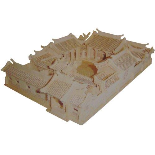 回至 四联 g-p152北京四合院 木质仿真3d立体拼图 (可添加颜色) 开发