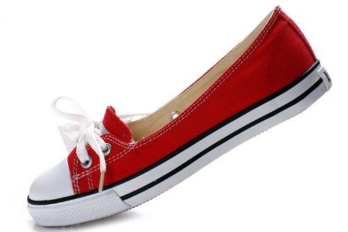 经典款淑女浅口帆布鞋