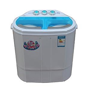 6kg迷你双缸双桶洗衣机 带甩干 不锈钢脱水桶 (蓝色)