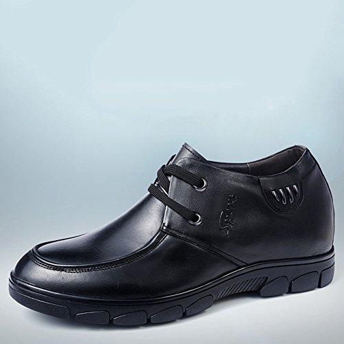 Gog 高哥 内增高皮鞋6cm休闲鞋男鞋男士增高鞋男式商务皮鞋秋季