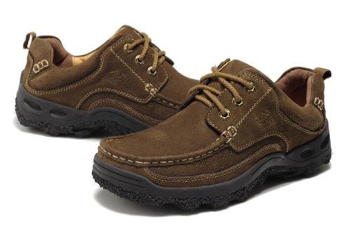 Camle 骆驼 低帮鞋 英伦时尚 简约工装靴 牛皮靴 系带骆驼休闲皮鞋 风尚优雅男靴 头层牛皮 防滑抗震橡胶底 男单鞋