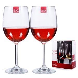 RONA洛娜无铅水晶 波尔多红酒杯酒杯 2570 450(2只礼品装 450ml) 99元包邮
