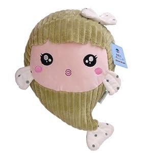 卡通可爱创意微笑小胖鱼美人鱼毛绒玩具公仔海洋世界娃娃生日礼物