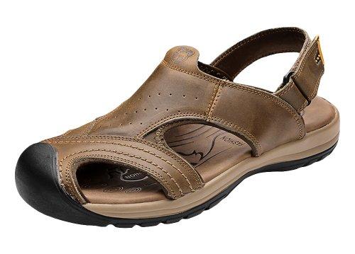 VANCAMEL 西域骆驼 夏季休闲包头魔术贴沙滩鞋男凉鞋 D1314101035