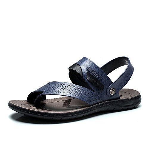 MULINSEN 木林森 沙滩鞋夏季凉鞋拖鞋真皮男鞋250036