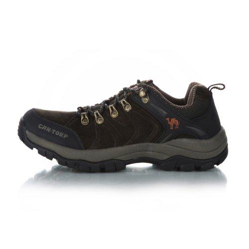 Cantorp 骆驼户外运动 徒步登山低帮男鞋 真牛皮 橡胶底D13050