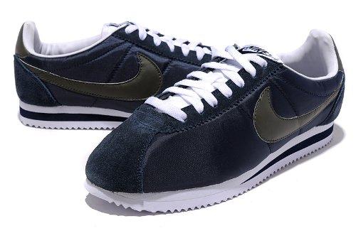 Nike 耐克 CLASSIC CORTEZ NYLON 阿甘系列  男款慢跑鞋 炮弹鞋 男子生活运动休闲鞋 深蓝黑 488291-400