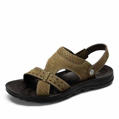 Camel 骆驼 男凉鞋 磨砂牛皮男凉鞋 沙滩鞋 皮凉鞋 82203618