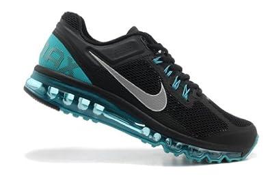 nike耐克2013新款airmax气垫鞋运动鞋男鞋黑绿554886-003 高清图片