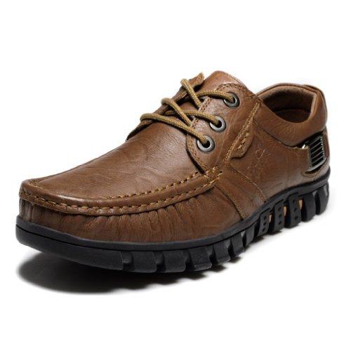 古奇天伦真皮透气男士休闲皮鞋商务男鞋 时尚潮流板鞋低帮男英伦韩版鞋韩版男士夏季