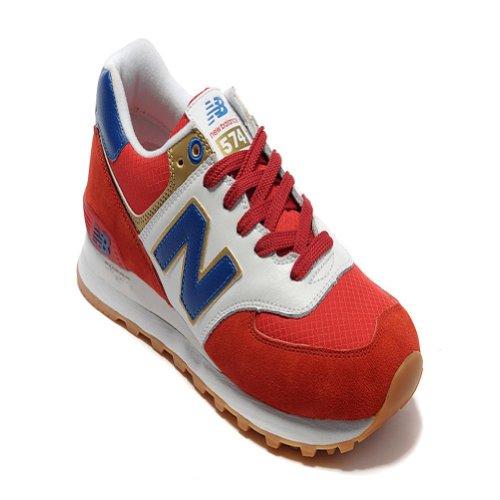 New Balance 新百伦 男子 复古鞋 男士 慢跑鞋 红白 ML574OLR 伦敦奥运 574系列 跑鞋 NB男鞋