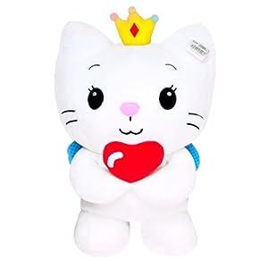 汉祥正版可爱50cm开心天使猫咪公仔毛绒玩具生日礼品