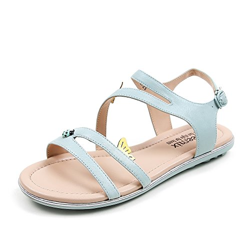 Teenmix 天美意 天美意夏季专柜同款羊皮女凉鞋专柜 XX06DBL5