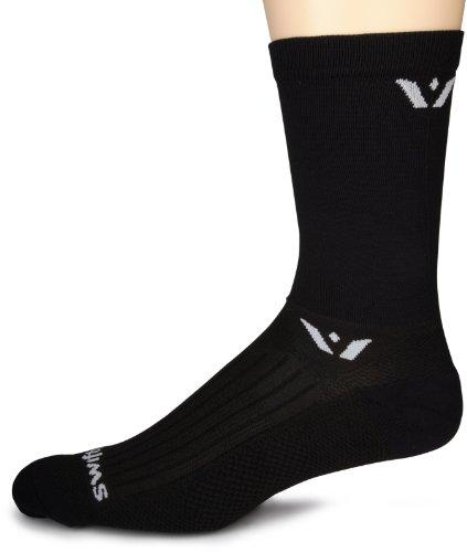 Swiftwick Performance Seven inch Cuff Socks, Black, Medium