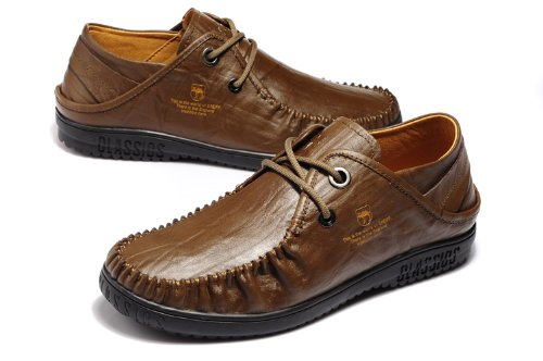 Van camel 西域骆驼 新款英伦正装鞋 商务休闲鞋 真皮皮鞋 百搭工装鞋 系带经典办公男鞋 户外休闲运动鞋