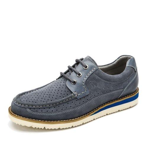 Camel 骆驼 男鞋 春季新款系带鞋子牛皮休闲男士板鞋透气舒适男鞋子A422158007