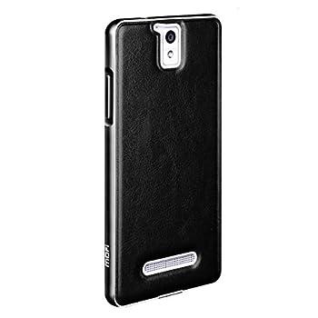 mofi莫凡 oppo r3边框加后盖皮套 手机套 手机壳 金属边框保护套 黑色